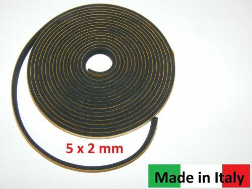 5 x 2 mm black Balgabdichtungsstreifen,accordion bellows Akkordeon Balgdichtung