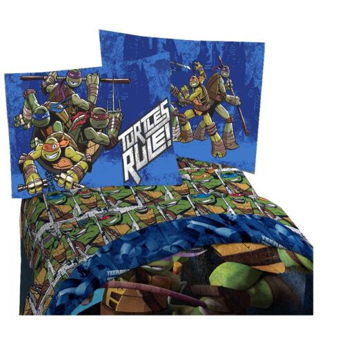 Nickelodeon TMNT Ninja Turtle Rule Kids Twin Sheet 3 Pc Set Official Licensed