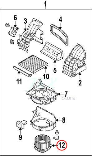 GENUINE AC Heater Blower Motor k Fit For Kia Forte /& Koup 10-13 OEM 97113-1M000
