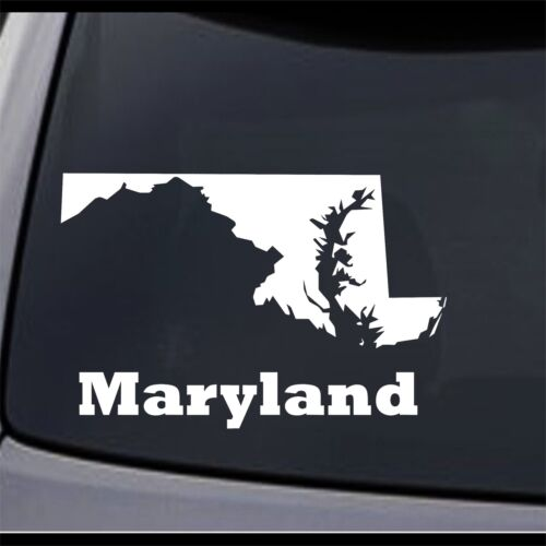 3 Pack Maryland State Map MD Home State Permanent Vinyl Decal Bumper Sticker