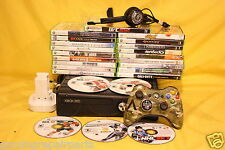 Xbox 360 Slim 120gb Bundle Black System Console & 15 Games