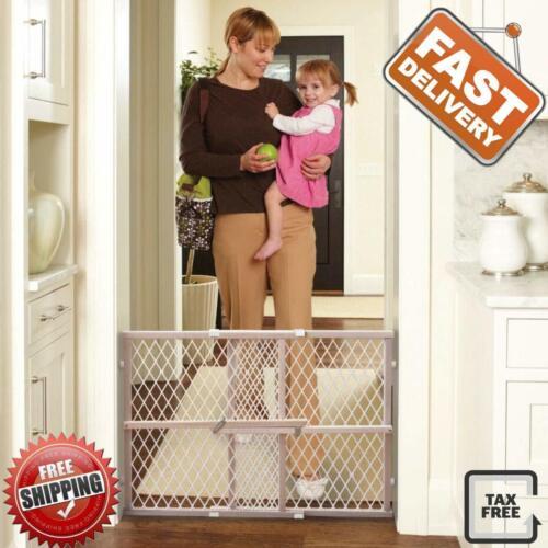 Baby Safety Gate Indoor Fence For Pet Cat Dog Toddler Child Walk Thru Wood Frame