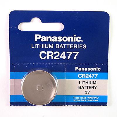 2 x Panasonic CR 2477 3V Coin Cell Batteries CR2477 BR2477 KCR2477