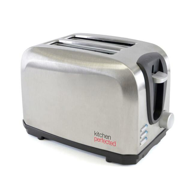 Lloytron E2019BS 7 Stage Kitchen Perfected Brushed Steel 700w 2 Slice Toaster