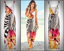 WOMENS ladies elegant summer casual long beach day evening MAXI DRESS SIZE 12-14