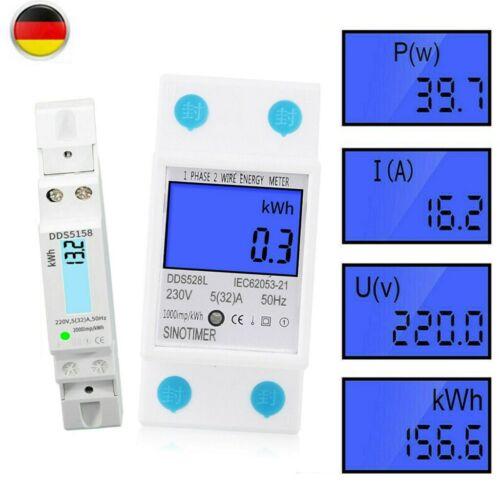Hutschiene 32//80A LCD-Digital Wechselstromzähler Drehstromzähler Stromzähler 5