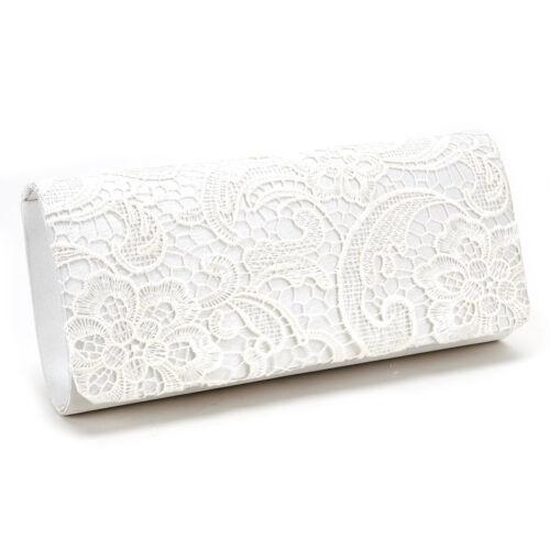 Floral Lace Handbag Party Envelope Clutch Bag Bridal Purse Black White Navy Blue