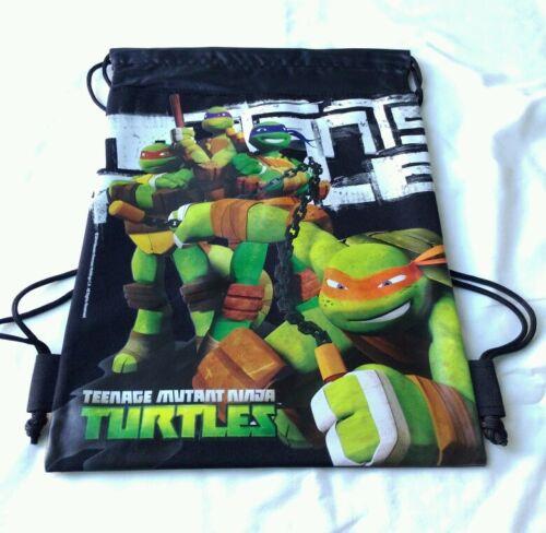 Black Teenage Mutant Ninja Turtles TMNT Drawstring Backpack Boy Sling Gym Bag