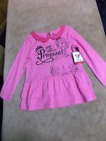 Disney Princess Sofia Pink Long Sleeve Dress Top - Size 4t - With Tags