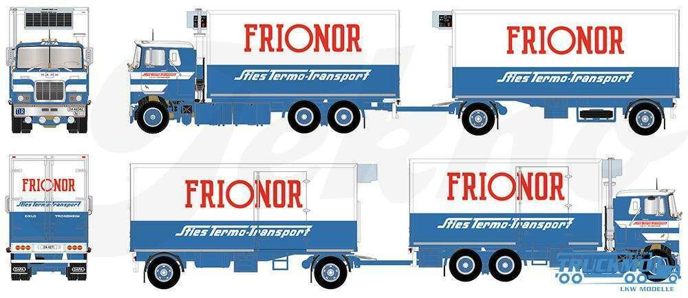 Tekno 71415 mack f 700 set fridge truck + trailer sties frionor mint box