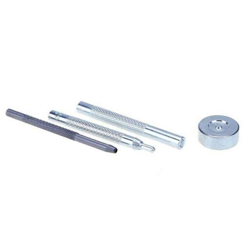 15mm S-Spring Press Stud Snap Fastener Popper Buttons with 3pcs Hand Tool Kit