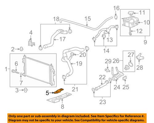 Buick GM OEM 11-13 Regal 2.0L-L4-Radiator Lower Bracket 23120322