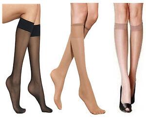 3f24c0425 6 Pair Ladies Womens Pop Socks Knee High Tights 15 Denier Comfort ...