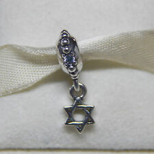 New Authentic Pandora Charm 791167CZ Star Of David CZ Dangle  Box Included