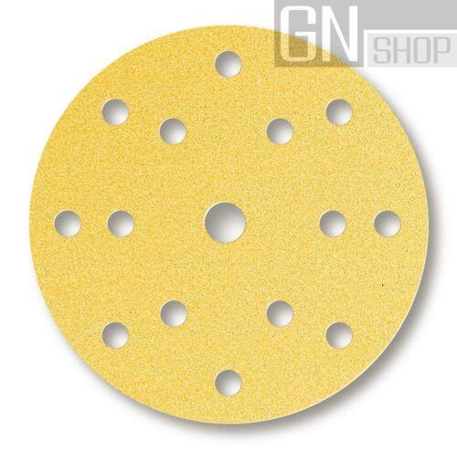 MIRKA Scheiben Gold Ø 150 mm Klett P150 15-fach gelocht Schleifscheiben 100 St