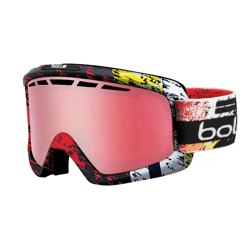 Bolle Nova II Ski Goggles Snowboarding Polarised Cat 2 Lens Red Zenith 21386