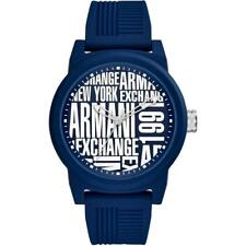 Orologio Uomo ARMANI EXCHANGE ATLC AX1444 Silicone Blu NEW
