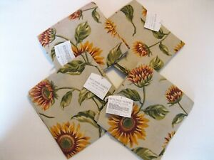 New-Kitchen-Towels-Set-of-Four-Sunflower-Crackle-Sunflowers-Target-Home-Napkins