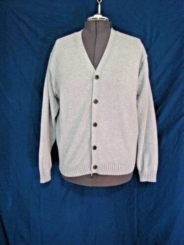 LL Bean Mens Cardigan Sweater Size L GRAY