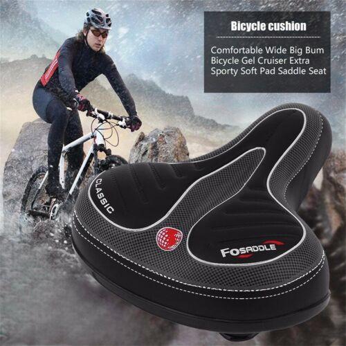 Comfortable Wide Big Bum Bike Bicycle Gel Cruiser Extra Sporty Soft Pad Saddle.