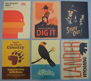 Image Is Loading FIREWATCH Olly Moss Set Of 6 MINI ART