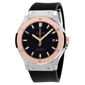 Hublot Classic Fusion Black Dial Black Rubber Men's Watch 511.NO.1181.RX