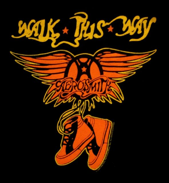AEROSMITH cd lgo Toys WALK THIS WAY Official Baby ONE PIECE Shirt LAST 18 Months