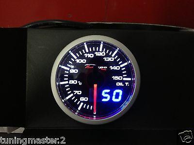 Manometro Strumento 52mm DEPO Pressione Olio 0-10  BAR Ambra//Bianco con sensore