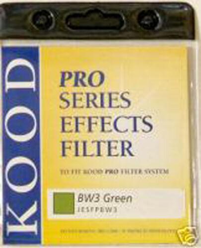 Kood P Filtro Verde BW3 para fotografía blanco y negro efectos especiales Cokin