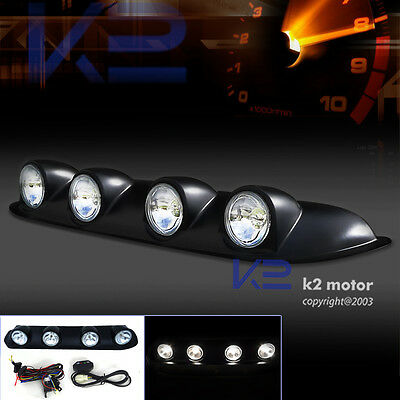Truck Pickup Jeep 4X4 Off Road Clear Roof Top Fog Lights Driving Lamp Bar