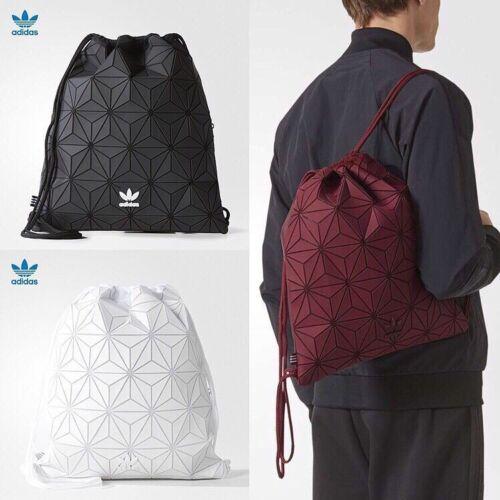Adidas Originals Issey Miyake BLACK Drawstring Geometric Gym Bag
