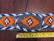 """PLAINS BEADED BELT WITH MATCHING BUCKLE 32""""( could be lengthened ) Sioux, bag"""
