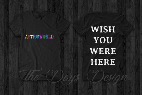 Travis Scott Astroworld Merch 2018 Official Logo Anti Tour Rodeo T Shirt Madness