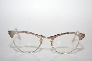5bfb6962c8a True Vintage ROMCO Cateye Eyeglasses Frames 48  20 4-5 1 2 Etched ...