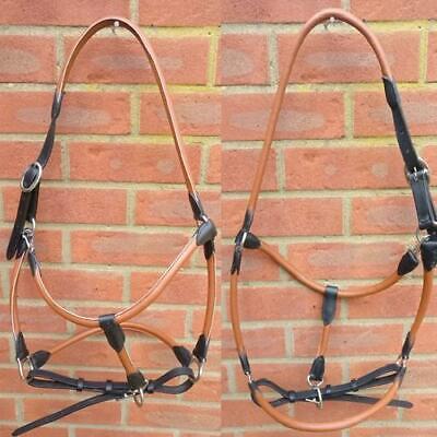 Leather Headcollar Soft Padded Fully Adjustable Full Cob Pony 3 Colours