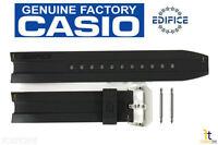Casio Ema-100-1av Edifice Original 20mm Black Rubber Watch Band Strap W/ Pins
