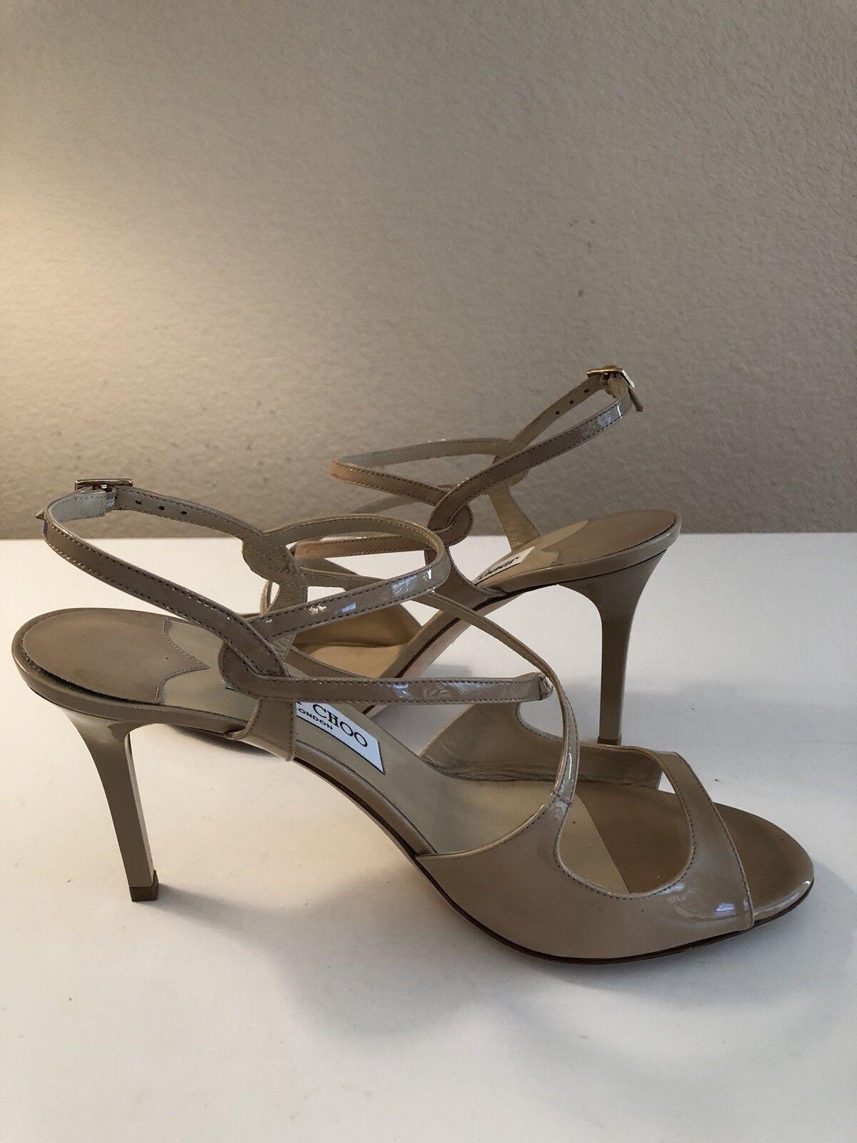 Women's JIMMY CHOO Paxton Paxton Paxton Style Nude Patent Sandals - EU 39 US 8.5-9 dd4cbd