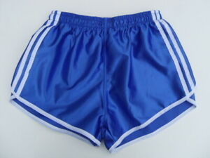 2x-Franzoesische-Vintage-Shorts-Gr-L-NEU-80er-kurze-Sporthose-Nylon-Glanz-retro