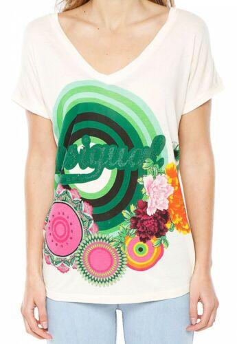 € 49 Desigual Women`s T-Shirt TS COFRA REP Size S M NEW