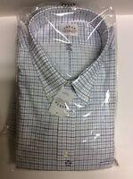Men's Dress Shirts Size 17.5 To 22 Eagle Petrol Blue Button Down 17 - $18.00