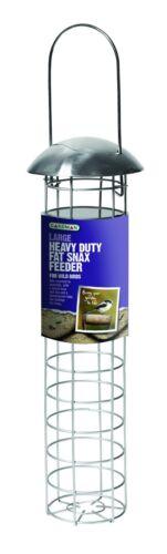 Gardman Aluminium Heavy Duty Wild Bird Hanging Fat Snax Garden Feeder 4254