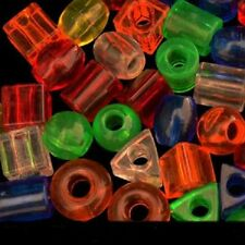 30 Large Plastic Beads Parrot Bird Parts.Crafts Assorted Shapes Colors