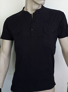RELIGION-Mens-Grandad-Collar-T-Shirt-in-Washed-Black-Now-25