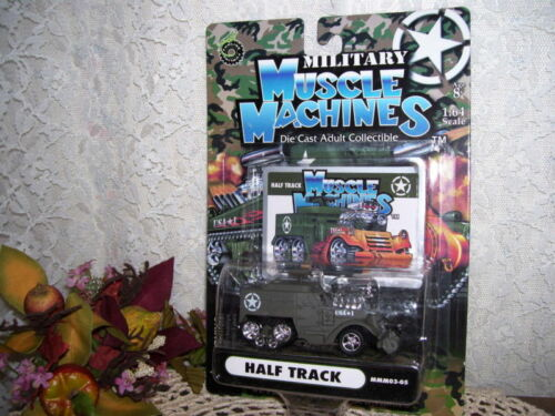 MUSCLE MACHINES HALF TRACK MILITARY 2003 MIP