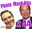 44 x personnalisé photo visage masques kits-birthday party fancy dress stag hen