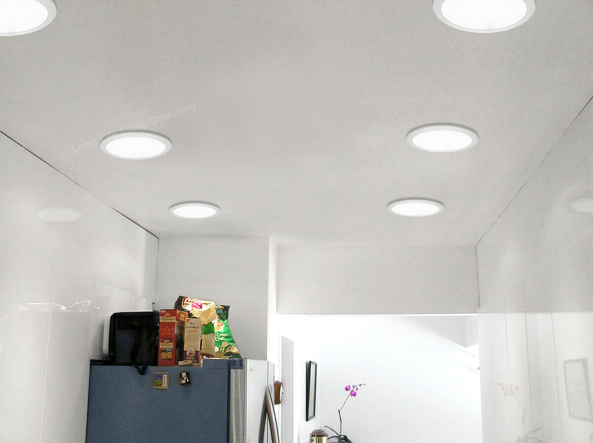 18W LED Round Recessed Ceiling Flat Panel Down Light Ultra slim Cool White | eBay