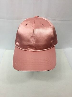 Time and Tru Women's Baseball Cap//Hat Pink Floral Crush Velvet