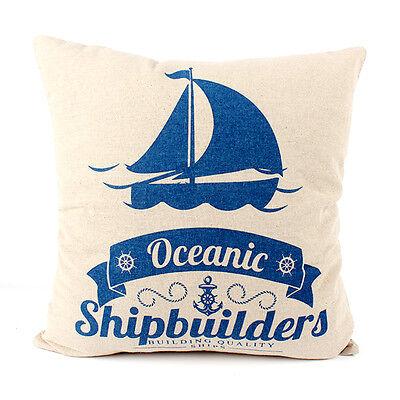 Retro Flag Decorative Printing Cotton Pillow Case Cushion Cover Pillowcase