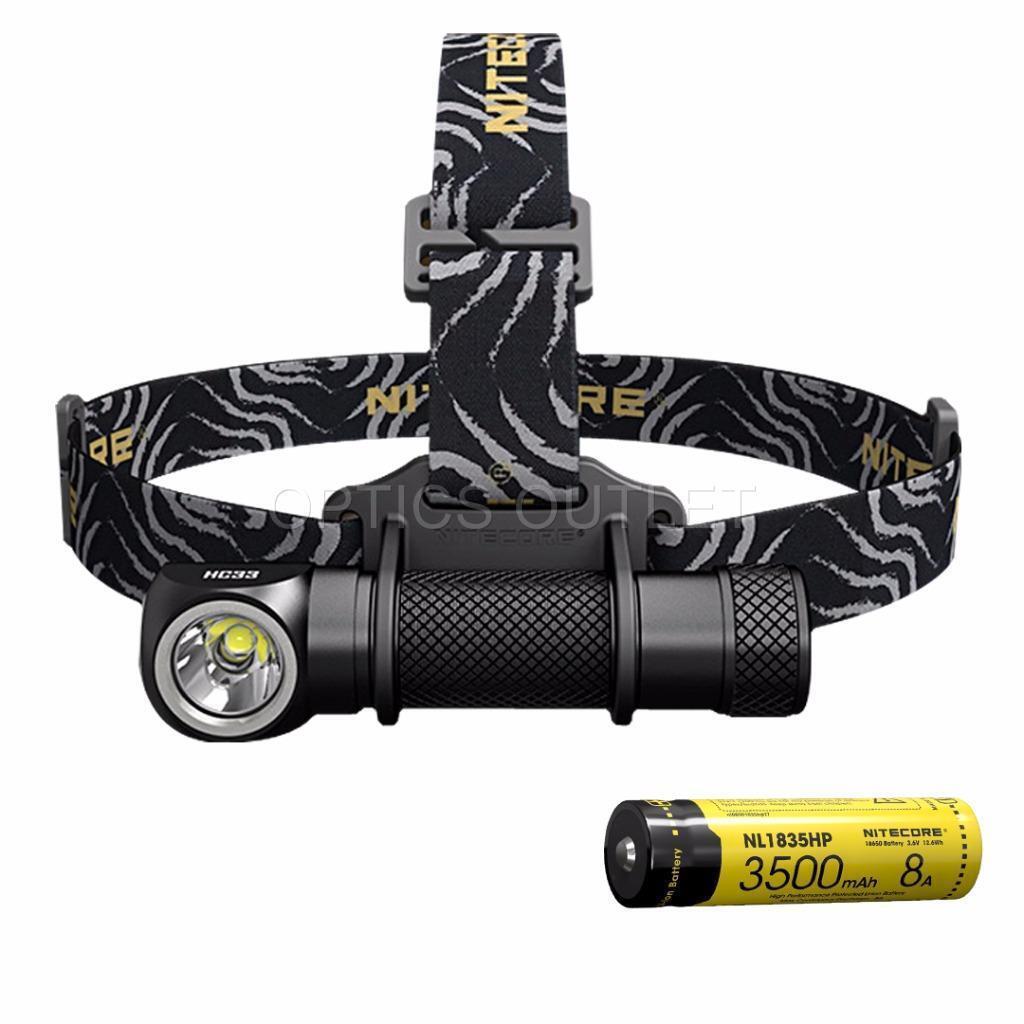NITECORE HC33 1800 Luuomini High Perforuomoce LED Headlamp & NL1835HP Battery