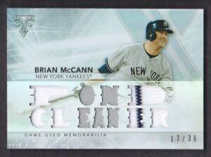 2015-Topps-Triple-Threads-Relics-TTR-BM1-Brian-McCann-Jersey-17-36-Yankees